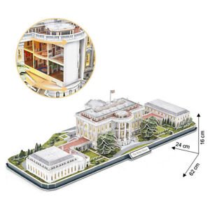Cubic Fun 3D Puzzle the White House Washington LED Special Edition