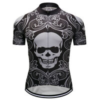 Outdoor Mens Cycling Jerseys Women Short Sleeve Riding Road Race Bike Full Zip