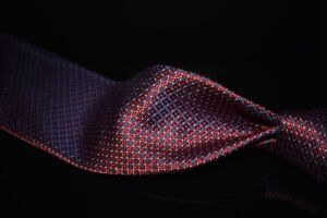 Ermenegildo Zegna Black Label Selvedge Silk Red Woven Satin Dotted Cube Tie NR