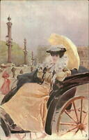 Glamour Beautiful Woman in City TUCK Art Series 1036 c1905 Postcard