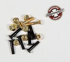 "Independent 1"" Inch Phillips Head Cross Bolt Skateboard Gold Hardware"