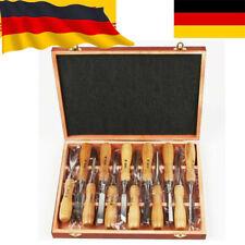 Stechbeitelsatz 12-tlg Stecheisen Beitel Set Schnitzbeitel Holzbeitel 6-38mm DE