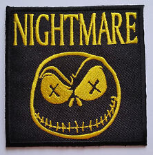 NOVELTY GOTHIC HORROR CARTOON SEW ON / IRON ON PATCH:- NIGHTMARE YELLOW JACK