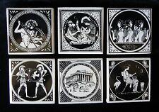 GREEK MYTHOLOGY CERAMIC TILE COASTERS Set of 6