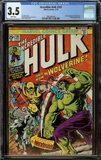 Incredible Hulk #181 CGC 3.5 White Pages - 1st Appearance of Wolverine