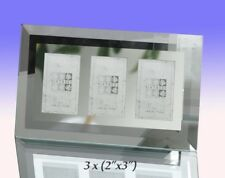 """Flat Bevelled Glass with a Mirror Border Triple Photo Frame.3x (3x2"""") (GM172-3)"""