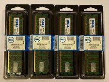 4x Dell Certified PC2-3200R ECC 4GB Memory Modules SNPX1564C/4G 740617111002 New