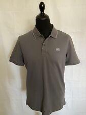 CP COMPANY (L) Slim Fit Mens Grey Box Logo Polo Shirt BNWT