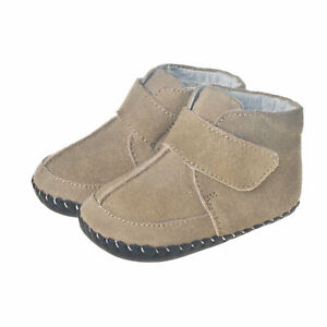 Little Blue Lamb Learn-to-Walk Baby Shoes Boots Leather Boots Beige Size 6-12