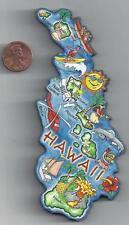 HAWAII  HI  ARTWOOD STATE MAP MAGNET  HONOLULU  OAHU LANAI MAUI KUAI  MOLOKAI
