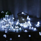 50 LED String Ball Bulb Fairy Light Lamp Garden Party Xmas Outdoor Waterproof UK