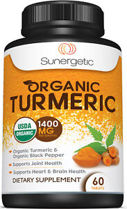 USDA Certified Organic Turmeric - 1400 MG per Serving - Supports Joint Health