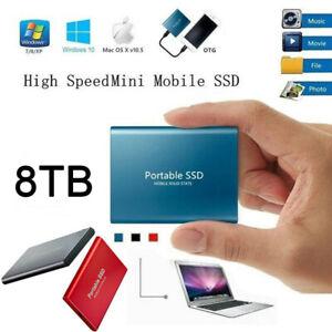 External SSD USB 3.1 Hard Drive Disk High Speed Solid State 4TB 8TB