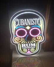 2 x CUBANISTO SKULL LED ILLUMINATED WALL HANGING NEON STYLE SIGN b/new pub bar