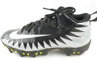 Nike Youth Alpha Menace Shark BG Cleats Black Metallic Silver-White Football 6Y