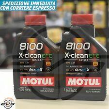 2 Litri Olio Motore MOTUL 8100 X-CLEAN 5W30 EFE C2 C3 SINTET FIAT 9.55535-S1/S3