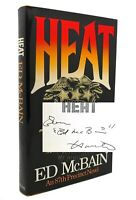 Ed McBain HEAT Signed 1st 1st Edition 1st Printing