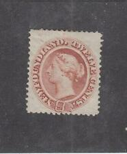 NEWFOUNDLAND (MK5878) # 28 FVF-MH 12cts 1870 QUEEN VICTORIA /RED BROWN CV $100