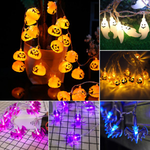 LED Halloween Curtain Pumpkin String Fairy Lights In/Outdoor Party Home Decor UK