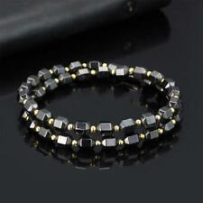 Magnetic Black Gold Beads Necklace Hematite Health Care Magnet Therapy Jewelry