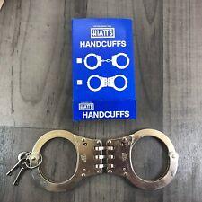 Hiatt Triple Hinged Handcuffs Model 2050 Comes With 2 Keys New Old Stock In Box