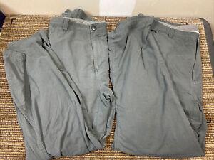 REI Mens Adventure Pants UPF 50+ Nylon Hiking Mens Gray 36x30 X2