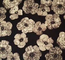Venezia BTY Michelle D'Amore Benartex Contempo Piccolo Fiori Cream Floral Black
