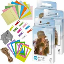 Zink 60 Pk Photo Paper and Frames Bundle - Sticker Paper for Hp Sprocket Printer