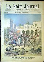 Le Petit Journal N°48 du 24/10/1891 Maroc  Assassina d'un ami de la France