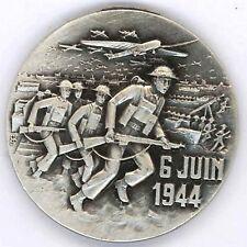 6 Juin 1944  Débarquement GOLD JUNO SWORD Médaillette 30 mm + boite