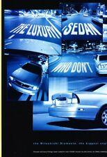 1999 Mitsubishi Diamante Original 2-page Advertisement Print Art Car Ad J918