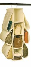 Richards Homewares Hanging Handbag Organizer-Canvas/Natural