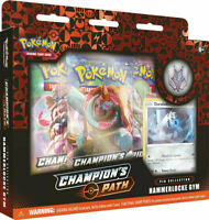 Pokemon Champions Path HAMMERLOCKE Gym Pin Collection Trading Cards Booster Pack