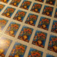 FEUILLE SHEET MONACO N°1056 x30 FLORALIES FLEURS 1976 NEUF ** MNH COTE 399€