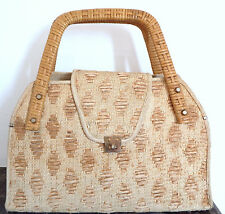Sac en paille osier vintage hippie chic - Hippie chic vintage wicker bag