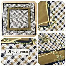 "AQUASCUTUM OF LONDON House Check signature lightweight cotton scarf 34"" X 34"""