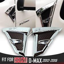 CHROME BLACK SIDE VENT CORNER DOOR FIT ISUZU D-MAX DMAX RODEO TRUCK 2012-2014