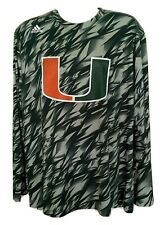 Adidas Miami Hurricanes - Green  Long Sleeve Athletic Shirt (2XL)