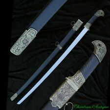RUSSIAN COSSACK SHASHKA EAGLE HEAD CAVALRY SABER WITH SCABBARD STEEL BLADE #1522
