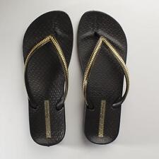 Ipanema ANATOMICA METALLICA Ladies Womens Summer Beach Thongs Flip Flops Black