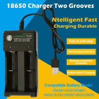 18650 Battery Charger USB Fast Charge Dual 3.7V 26650 16340 14500 Vape Batteries