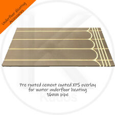 Overlay Water Underfloor Heating Grooved Cement Coated XPS for 16mm Pipe 22mm