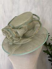 HOT British Milliner: Dawn Knight Collection Wide Brim DERBY Hat, Size S, BNNT