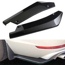2x Glossy Black Car Rear Bumper Lip Diffuser Splitter Canard Protector Universal