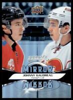 2020-21 UD MVP Mirror Mirror Variation #MM-10 Johnny Gaudreau - Calgary Flames