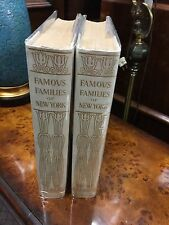 Rare Famous Families of New York 1902 Putnam 2 Vol hb