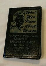 Vintage Comical Advertising Notebook Maryette Specialty Shop Reading Pa