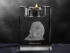 Affenpinscher, Kristall-Kerzenleuchter mit Hund, Crystal Animals CH