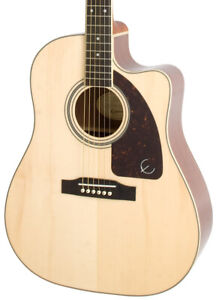 Epiphone AJ-220SCE Advanced Jumbo Electro Acoustic Guitar, Natural (NEW)