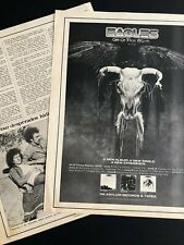 """Eagles 1975 """"One Of These Nights"""" Ad & Clipping 11X14"""""""